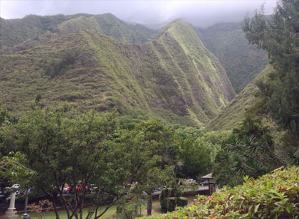 Vacation Photo of Hawaii Mountains